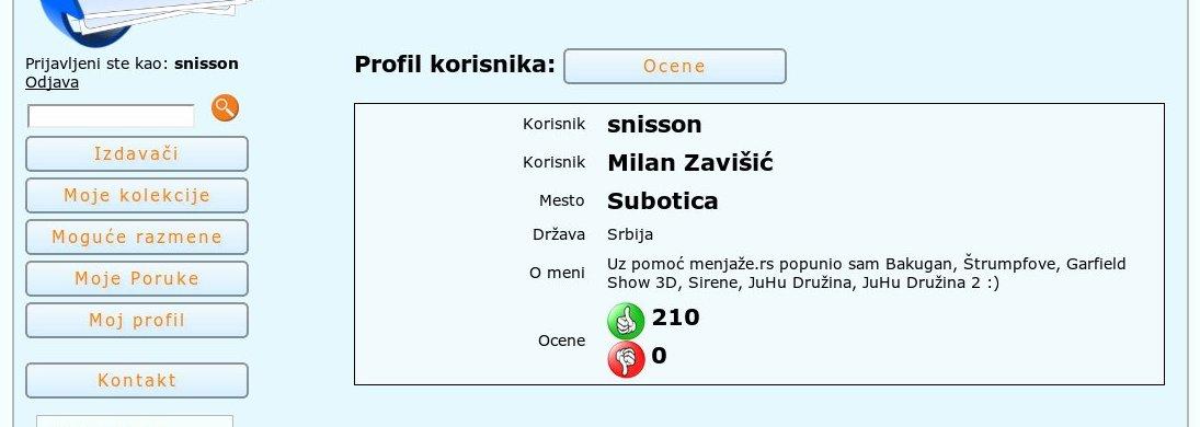 Menjaža.rs - razmena sličica - uputstvo